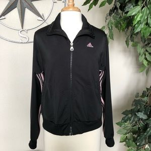 Adidas: Women's Jacket Zip up Black and Pink